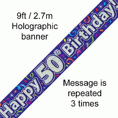 50th Birthday Streamers - Banners & Bunting