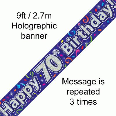 70th Birthday Streamers - Banners & Bunting