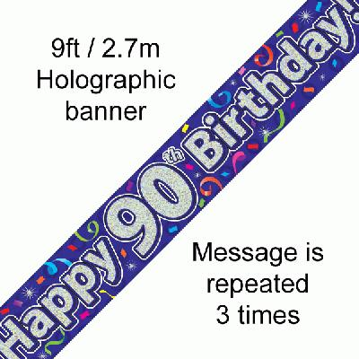 90th Birthday Streamers - Banners & Bunting