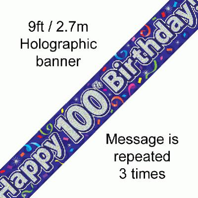 100th Birthday Streamers - Banners & Bunting
