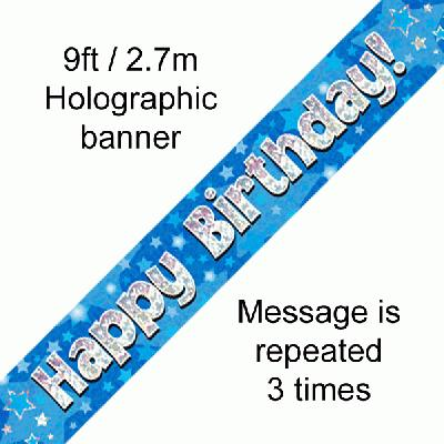 Happy Birthday Blue - Banners & Bunting