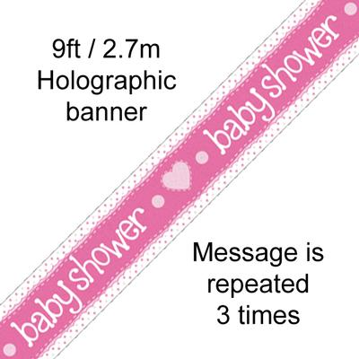 Baby Shower Pink - Banners & Bunting