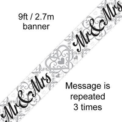 Mr & Mrs - Banners & Bunting
