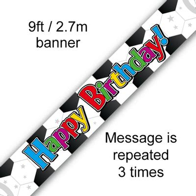 9ft Banner Football Birthday - Banners & Bunting
