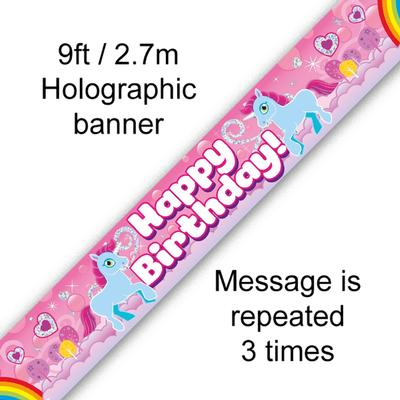 Unicorn Rainbow Birthday - Banners & Bunting