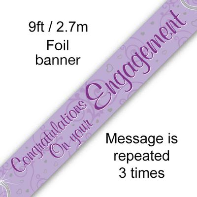 Congratulations on your Engagement - Entwined Hearts - Banners & Bunting