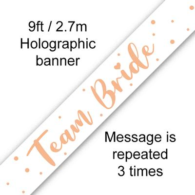 9ft Banner Team Bride Metallic - Banners & Bunting