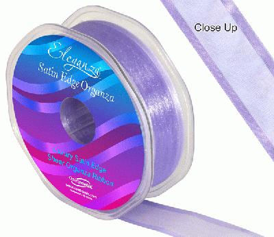 25mm Satin Edge Organza Ribbon Lavender - Ribbons