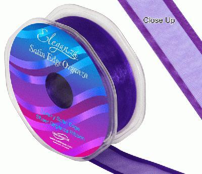 25mm Satin Edge Organza Ribbon Purple - Ribbons