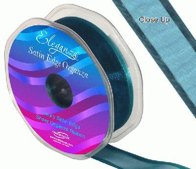 25mm Satin Edge Organza Ribbon Teal - Ribbons