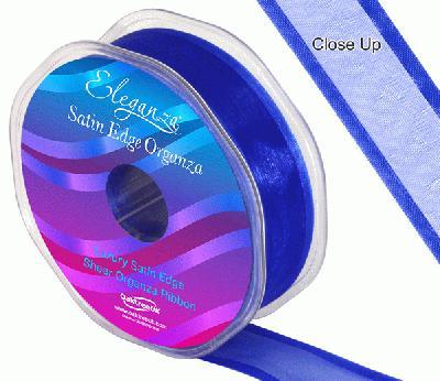 25mm Satin Edge Organza Ribbon Royal Blue - Ribbons