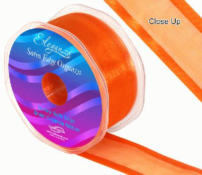 38mm Satin Edge Organza Ribbon Orange - Ribbons