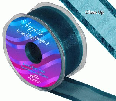 38mm Satin Edge Organza Ribbon Teal - Ribbons