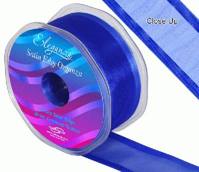 38mm Satin Edge Organza Ribbon Royal Blue - Ribbons