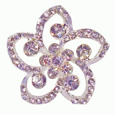 Diamanté Encrusted Flower Swirl 37mm - 1pc - Accessories