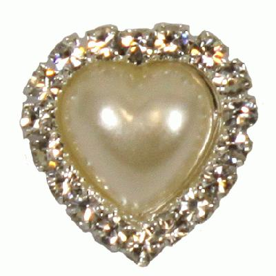 Diamanté Brooches - Heart Diamanté cluster 18mm 3pcs - Accessories