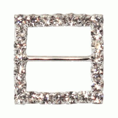 Diamanté Buckles - Square 22mm 6pcs - Accessories