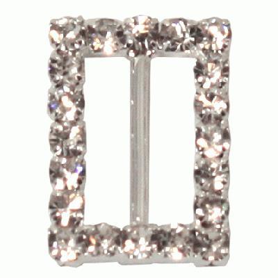 Diamanté Buckles - Rectangle 15x21mm 6pcs - Accessories