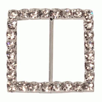 Diamanté Buckles - Square 32mm 4pcs - Accessories