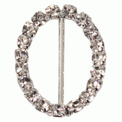 Diamanté Buckles - Oval 24x38mm 40mm 4pcs - Accessories
