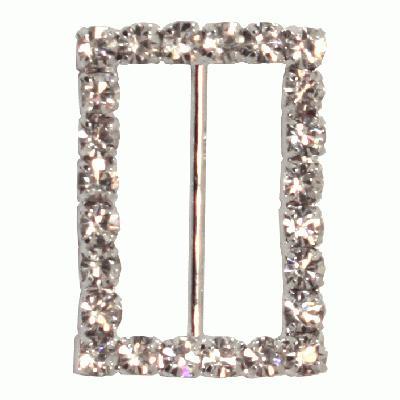 Diamanté Buckles - Rectangle 23x32mm 4pcs - Accessories