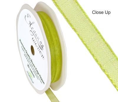 Woven Edge Ribbon 6mm x 20m Pistachio No.27 - Ribbons