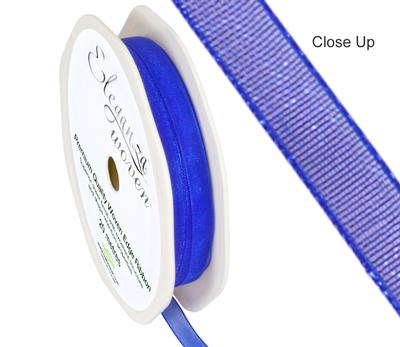Woven Edge Ribbon 6mm x 20m Royal Blue No.18 - Ribbons