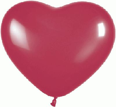 11inch Heart Crystal Burgundy (Special Net Price) - Clearance