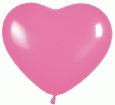 11inch Heart Fashion Solid 009 Pink x 100 - Latex Balloons