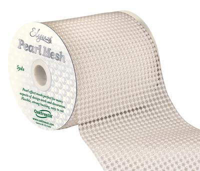 Eleganza Pearl Mesh 11.5cm x 4.5m White No.01 - Accessories
