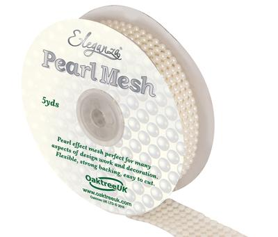 Eleganza Pearl Mesh 6 Row x 5 Yards Ivory No.61 - Accessories