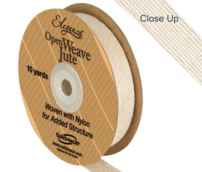 Eleganza Open Weave Jute 15mm x 9.1m (10yds) Ivory No.61 - Ribbons