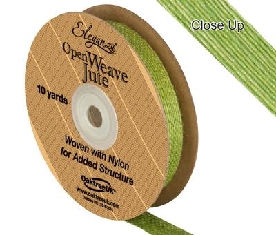 Eleganza Open Weave Jute 15mm x 9.1m (10yds) Pistachio No.27 - Ribbons