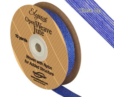 Eleganza Open Weave Jute 15mm x 9.1m (10yds) Blue No.18 - Ribbons