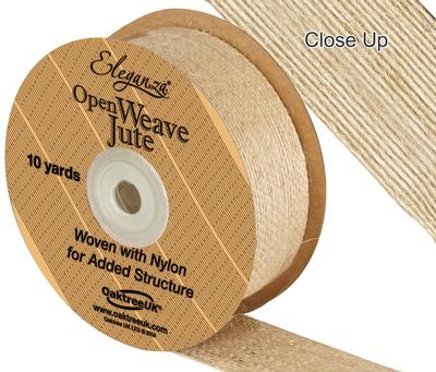 leganza Open Weave Jute 38mm x 9.1m (10yds) Natural No.02 - Ribbons