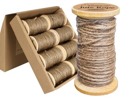 Eleganza Jute Rope wooden Spool 2mm x 15m Natural No.02 - Ribbons