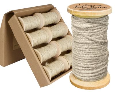 Eleganza Jute Rope wooden Spool 2mm x 15m Ivory No.61 - Ribbons