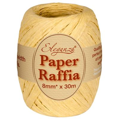 Eleganza Paper Raffia 8mm x 30m No.02 Natural - Ribbons