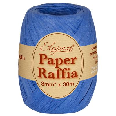 Eleganza Paper Raffia 8mm x 30m No.18 Royal Blue - Ribbons