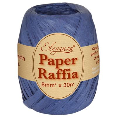 Eleganza Paper Raffia 8mm x 30m N0.19 Navy Blue - Ribbons