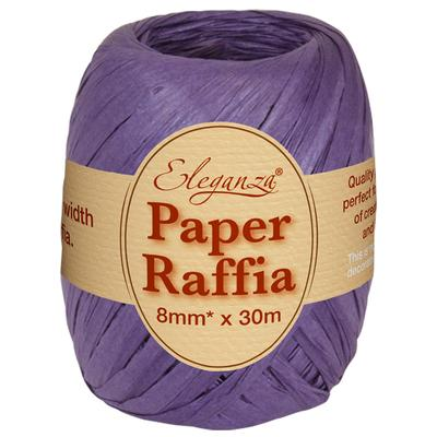 Eleganza Paper Raffia 8mm x 30m No.36 Purple - Ribbons