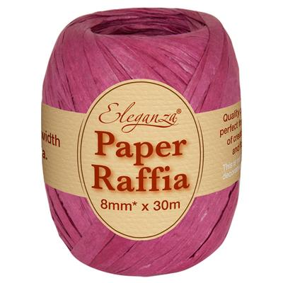Eleganza Paper Raffia 8mm x 30m No.17 Burgundy - Ribbons