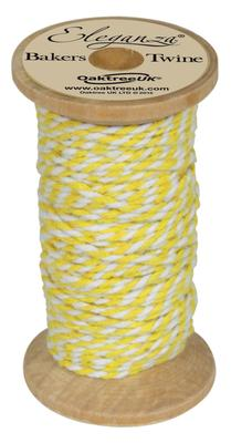 Eleganza Bakers Twine Wooden Spool 2mm x 15m Yellow No.11 - Ribbons