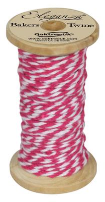 Eleganza Bakers Twine Wooden Spool 2mm x 15m Fuchsia No.28 - Ribbons