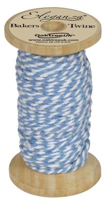 Eleganza Bakers Twine Wooden Spool 2mm x 15m Lt. Blue No.25 - Ribbons