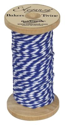 Eleganza Bakers Twine Wooden Spool 2mm x 15m Royal Blue No.18 - Ribbons
