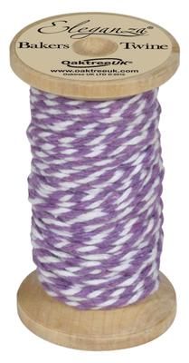 Eleganza Bakers Twine Wooden Spool 2mm x 15m Lavender No.45 - Ribbons