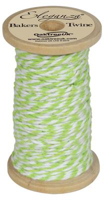 Eleganza Bakers Twine Wooden Spool 2mm x 15m Lime Green No.14 - Ribbons