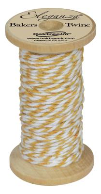 Eleganza Bakers Twine Wooden Spool 2mm x 15m Gold No.35 - Ribbons