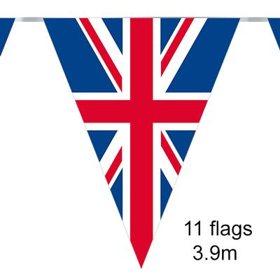 Party Bunting Union Flag 11 flags 3.9m x 6pcs - Banners & Bunting